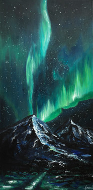 Canvas Painting   Northern Lights