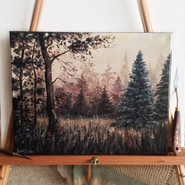 Canvas Painting   Misty Morning