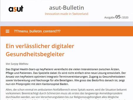 heyPatient wird im asut-Bulletin vorgestellt