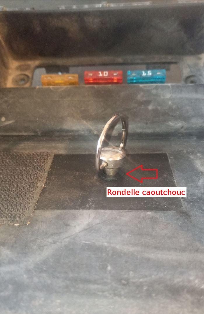 Platine rapide pour  boite à gants- KTM 950 Adventure- KTM 990 Adventure