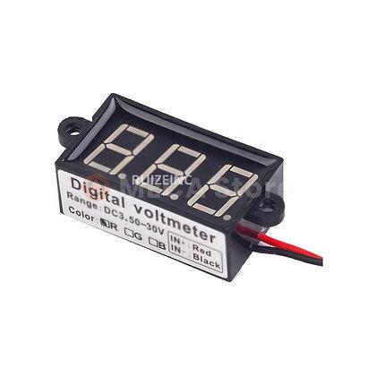 Voltmètre digital rectangulaire à fixer
