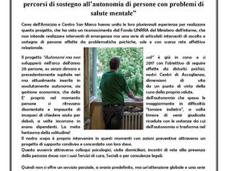 """Progetto """"AUTONOMI MA NON SOLI""""."""