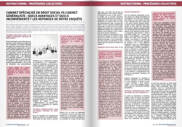 CABINET SPÉCIALISÉ EN DROIT SOCIAL VS CABINET GÉNÉRALISTE ...