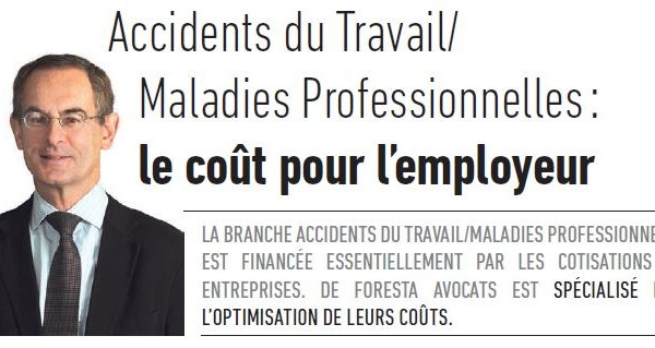 ACCIDENTS DU TRAVAIL / MALADIES PROFESSIONNELLES : le coût pour l'employeur.