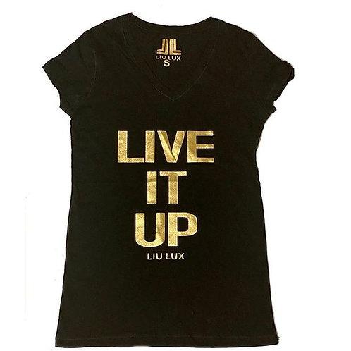 Live It Up V-Neck Women's T-Shirt