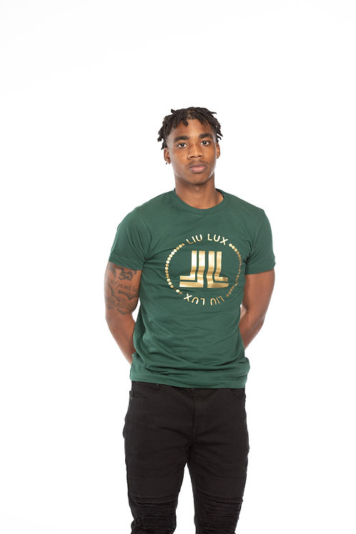 Green & Gold Chained Logo Unisex T-Shirt