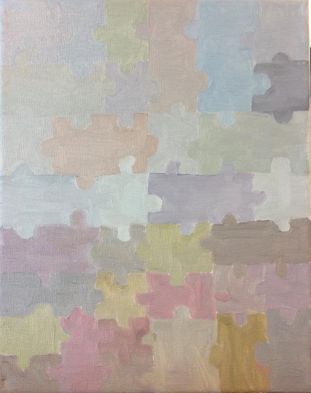 Puzzle pieces in subtle colors