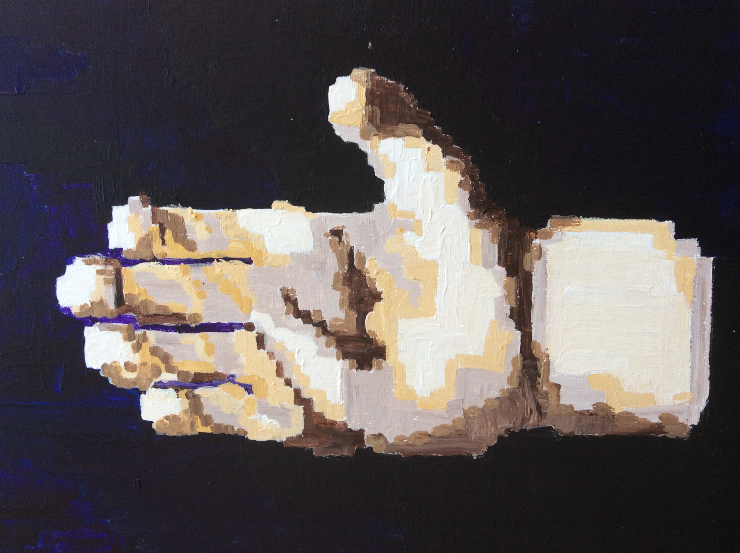 """Physical acrylic painting representation of """"digit"""""""