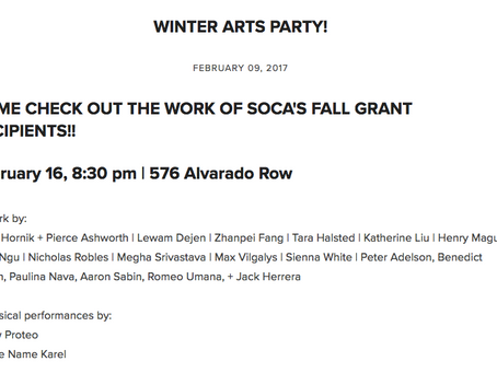 SOCA Winter Arts Party