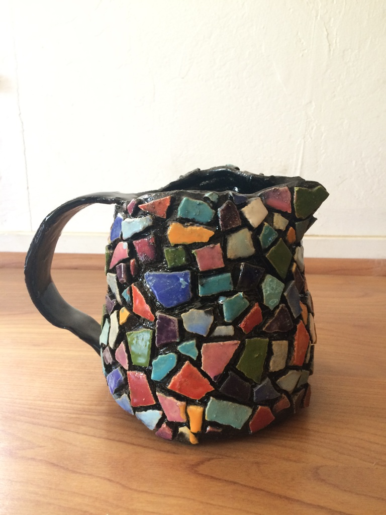 Mosaic pitcher