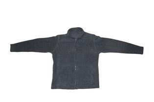 Dark Gray Zip-Up Fleece Jacket