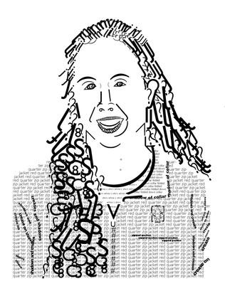 Self-Portrait in Gill Sans typeface