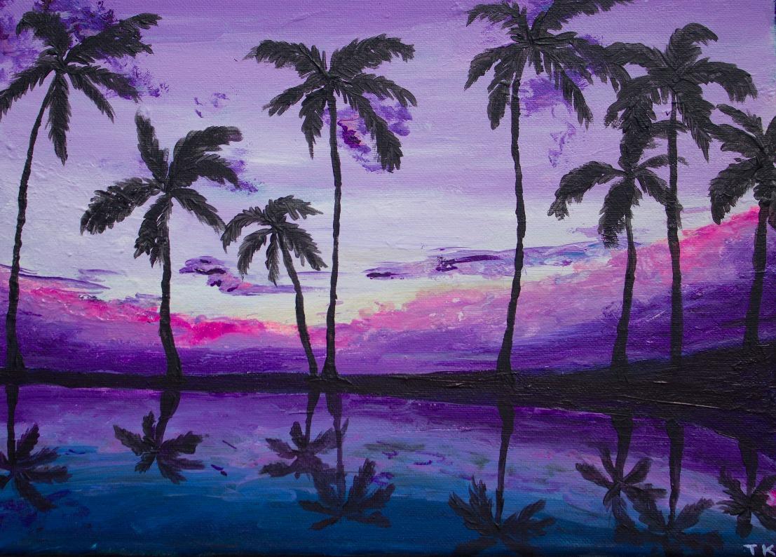 Purple Hawaiian sunset