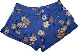 blue flowered PJ shorts