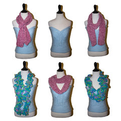Assortment of crocheted scarves