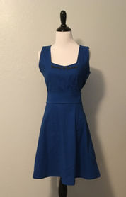 Blue Dress with beading details