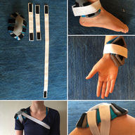 Adjustable joint heating pad for multiple joints