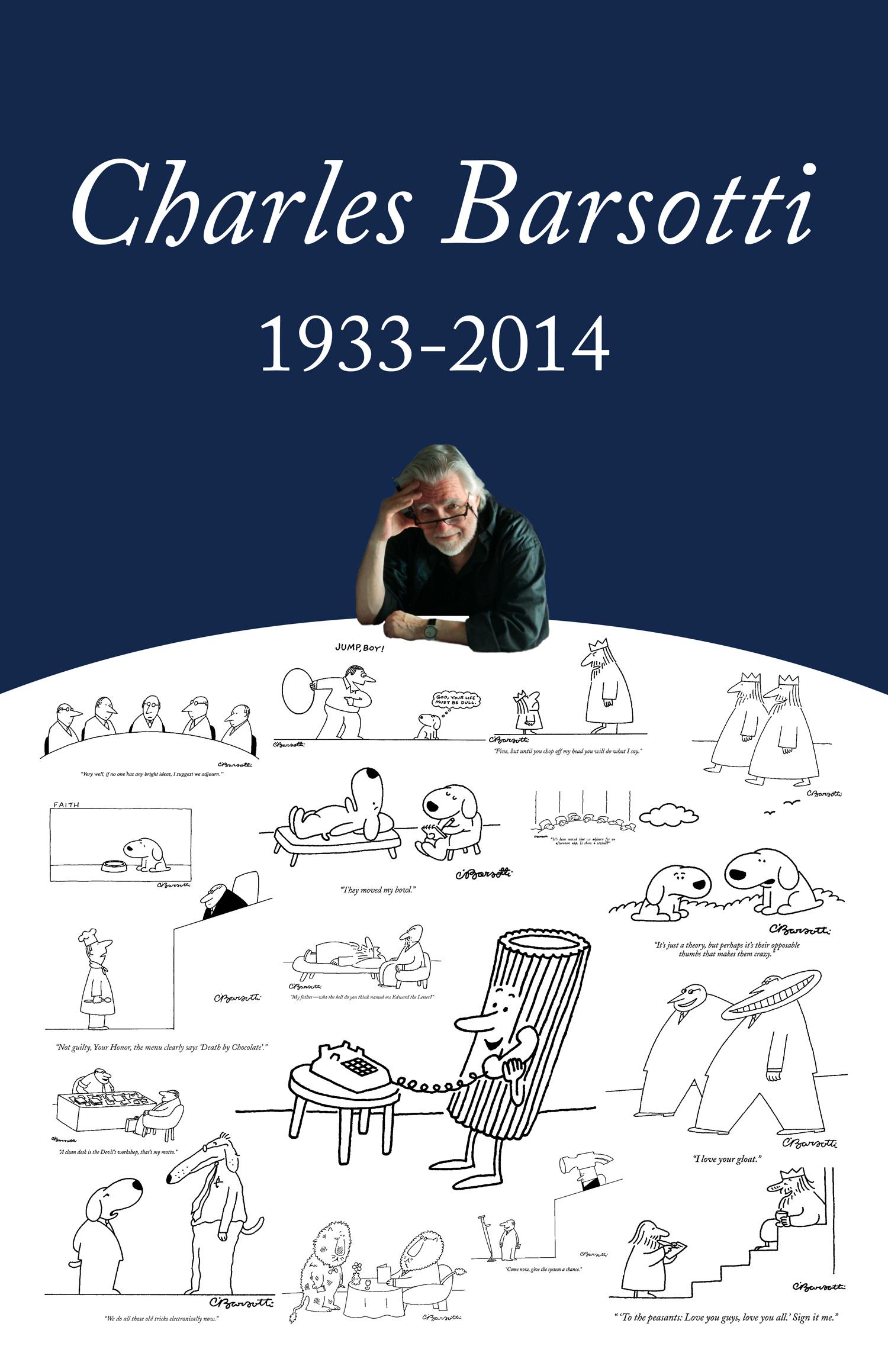 Poster honoring Charles Barsotti
