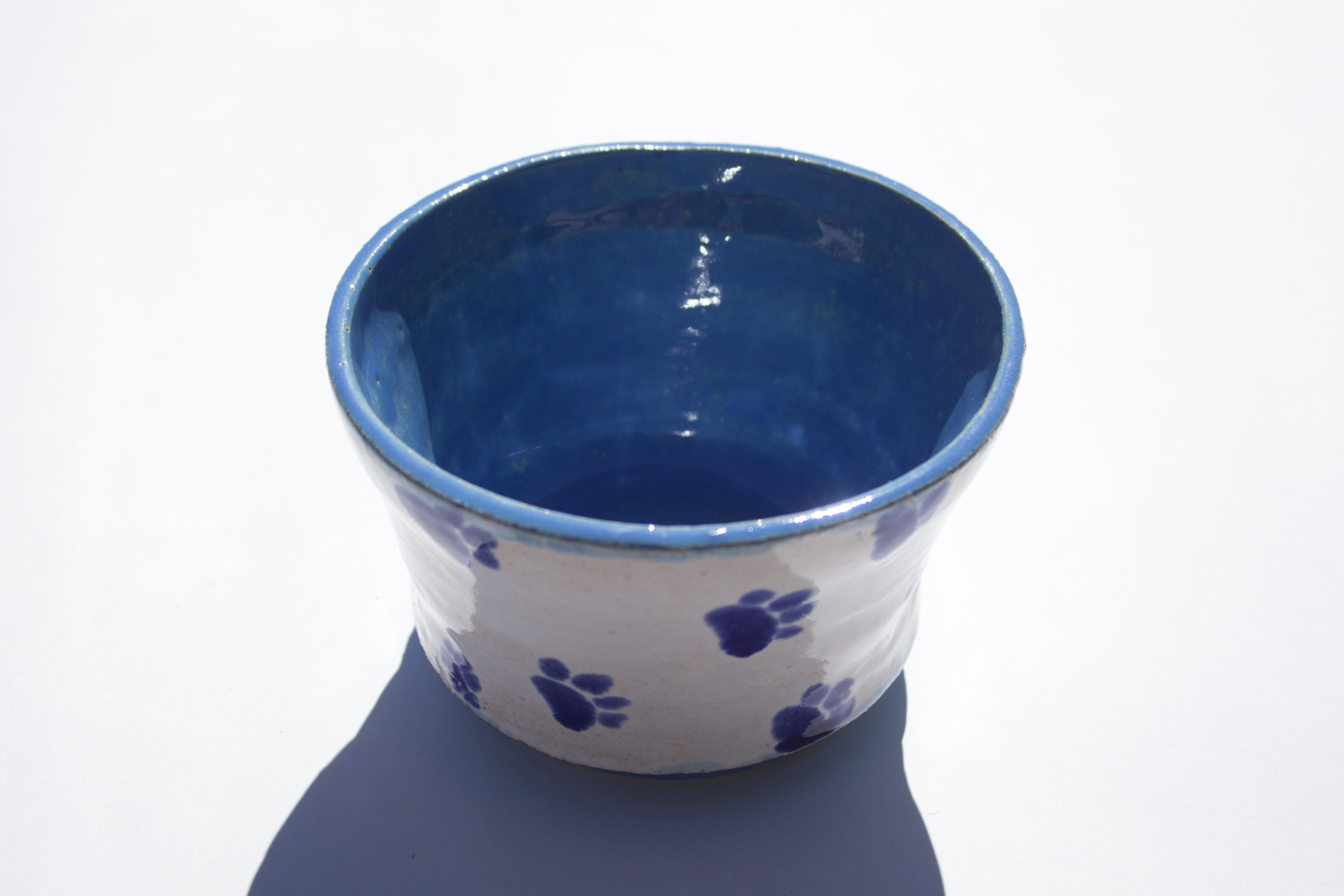 Paw print bowl