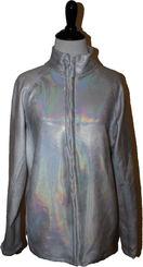 Iridescent silver jacket