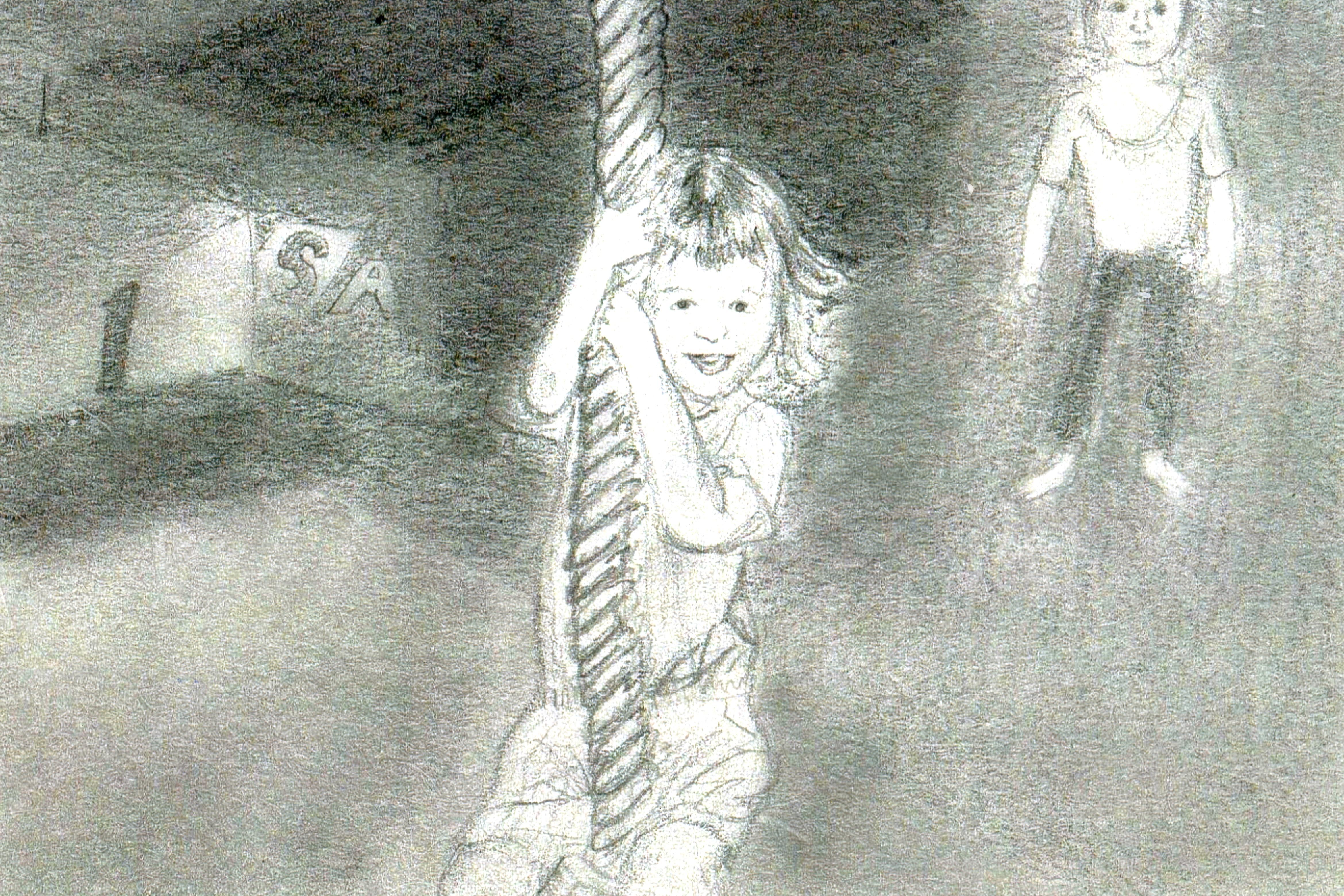 Rope swim at gymnastics