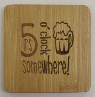 Bamboo Coasters and Holder
