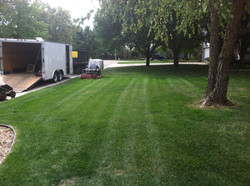 Mowing Front Yard