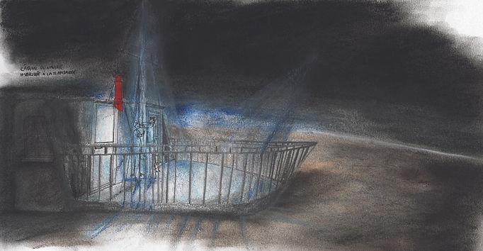 Le petit bateau à la cheminée rouge