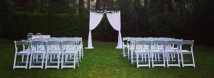 Curtain Arbor with Americana Chairs