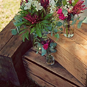 vintage crates with flowers