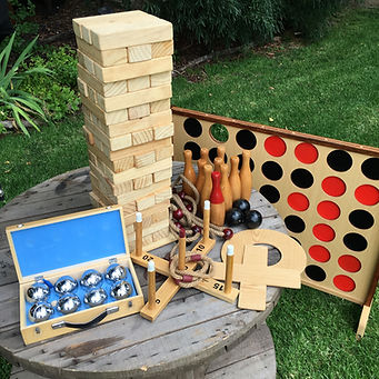 Lawn Game Hire, Giant Jenga, Giant Connect 4, Giant Naughts & Crosses, Quoits, Skittles, Bocce