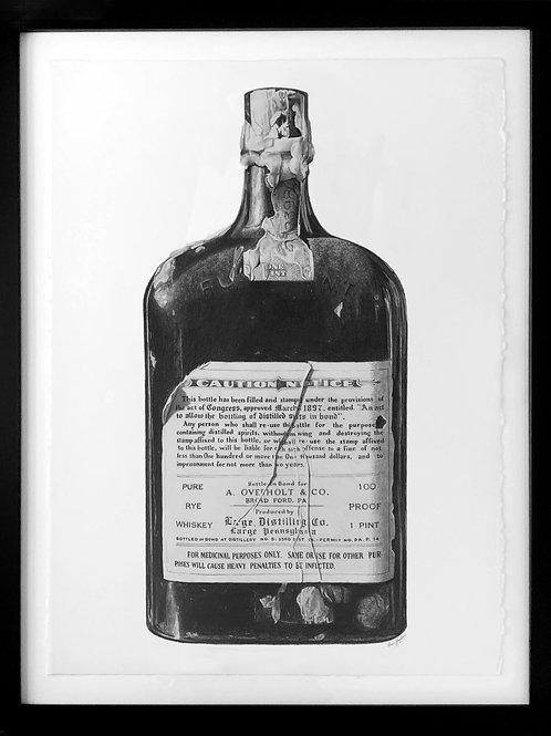 Old Overholt Prohibition Bottle
