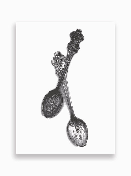 Rolex Spoons Card