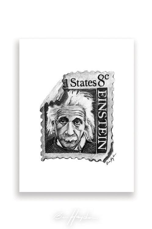 Einstein Stamp Card