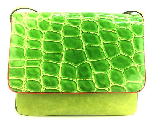 Large Satchel Green