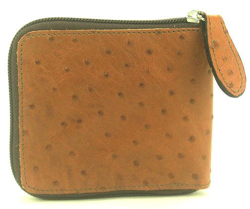 Small Zip Wallet Tan