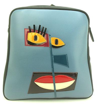 Backpack Blue Face