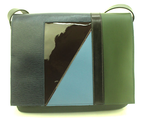 Medium Satchel Green Multi