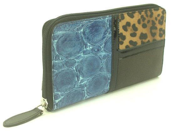Large Zip Wallet Blue Multi