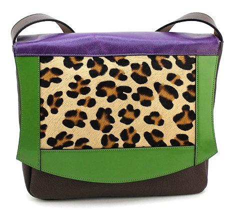 Medium Satchel Leopard