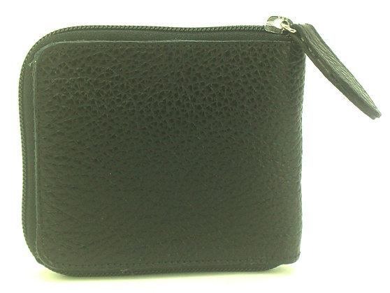 Small Zip Wallet Black