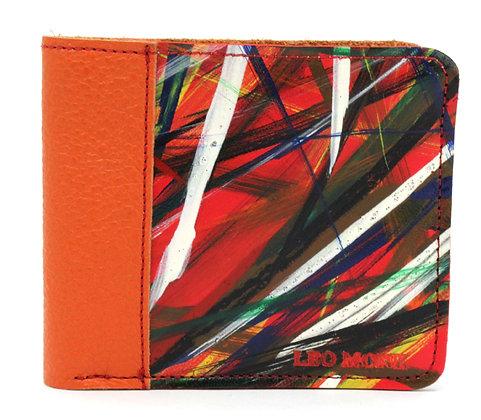 Men's Wallet Orange Slash