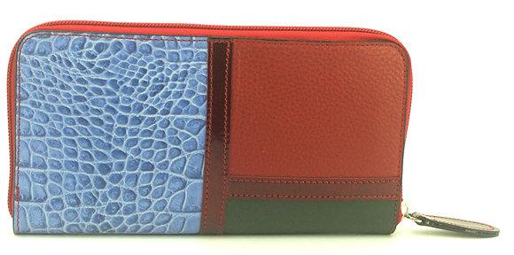 Large Zip Wallet Red Multi