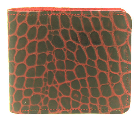 Men's Wallet Burgundy with coin compartment