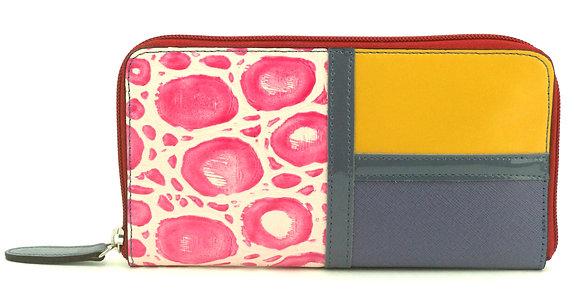 Large Zip Wallet Pink