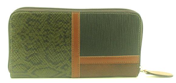 Large Zip Wallet Brown Multi