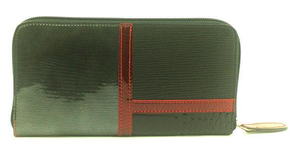 Large Zip Wallet Black Multi