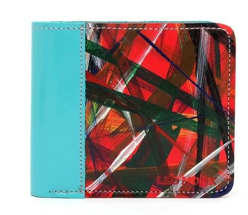 Men's Wallet Aqua Slash