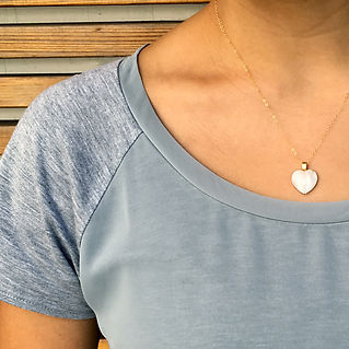 white heart romantic pendant necklace