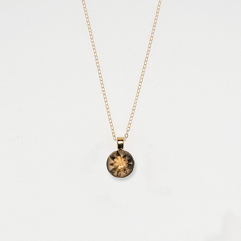 Small Gold Flower Pendant Necklace